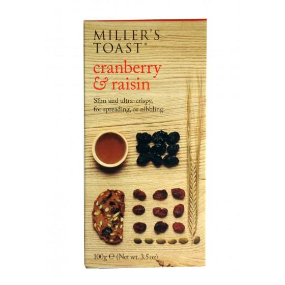 Miller's Toast. Tostadas con arándanos y pasas 100 g