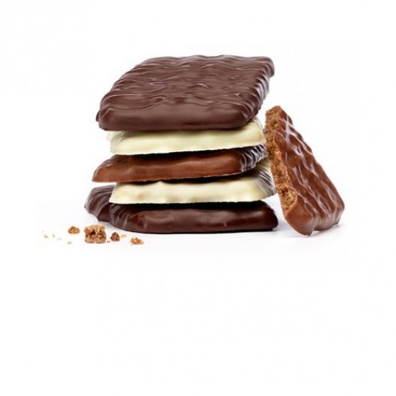 Biscuits de azúcar cande recubiertos de tres chocolate 100 g