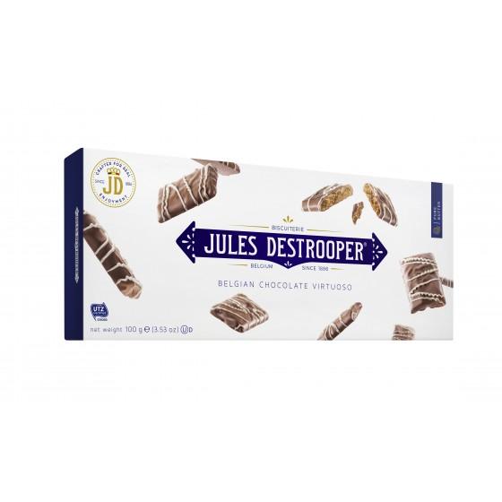 Biscuits de canela recubiertos de chocolate con leche y decoradas con chocolate blanco 100 g
