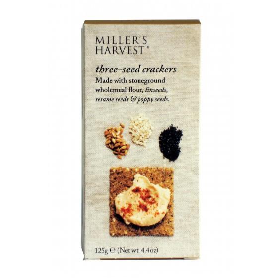Miller's Harvest. Crackers con semillas de linaza, sésamo y amapola 125 g