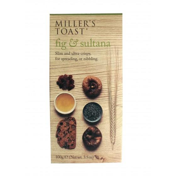 Miller's Toast. Tostadas de higos y pasas 100 g