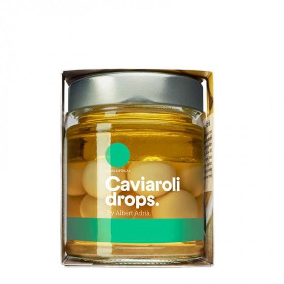 Caviaroli Drops.  Aceitunas verdes esferificadas 170 g