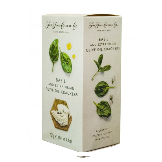 Crackers de aceite de oliva virgen extra y albahaca 125 g