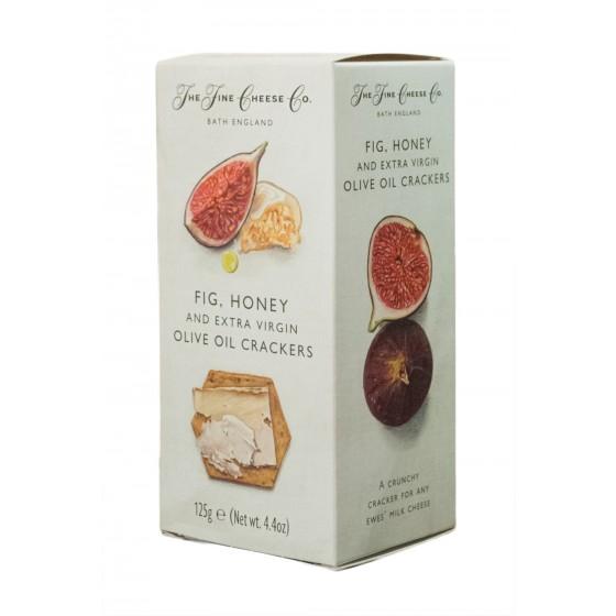 Crackers de aceite de oliva virgen extra, higos y miel 125 g