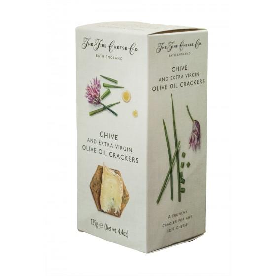 Crackers de aceite de oliva virgen extra y cebollino 125 g
