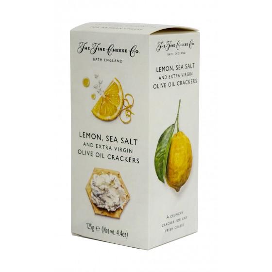 Crackers de aceite de oliva virgen extra, limón y  sal 125 g