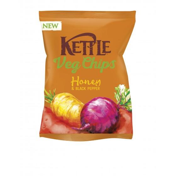 Chips vegetales con hortalizas, miel y pimienta negra 100 g