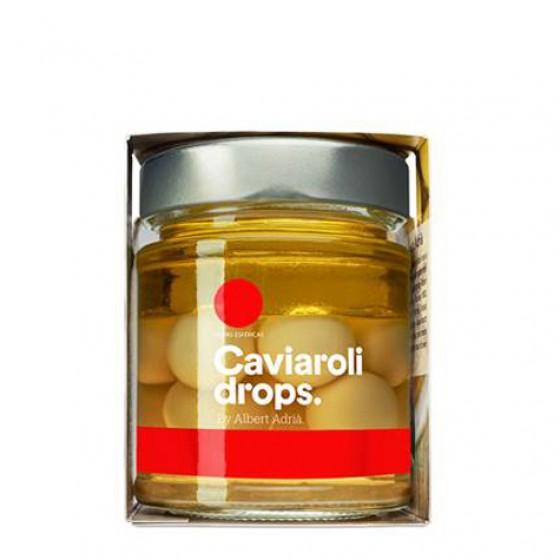 Caviaroli Drops.  Aceitunas verdes picantes esferificadas 170 g