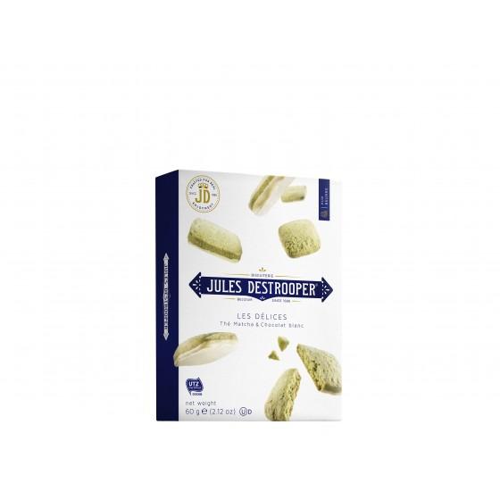Les Délices | Biscuits de té matcha y chocolate blanco 60 g