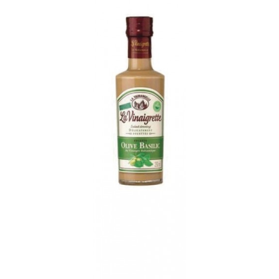 Vinagreta de aceite de oliva y albahaca. BIO 25 cl