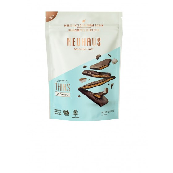 Biscuits Nougatine con coco bañados con chocolate negro 114 g