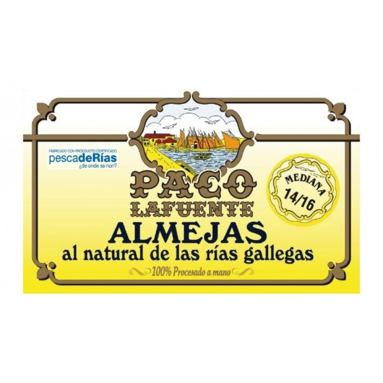 Almejas al natural 14/16 pza. 115 g