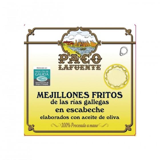 Mejillones fritos en escabeche  6/8 pza. 115 g