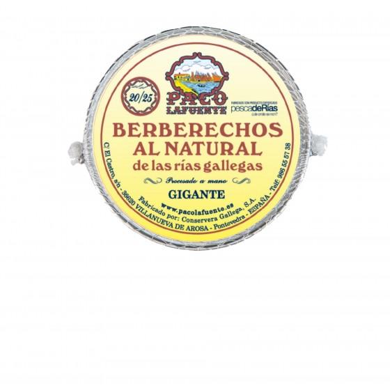 Berberechos al natural 20/25 pza. 111 g