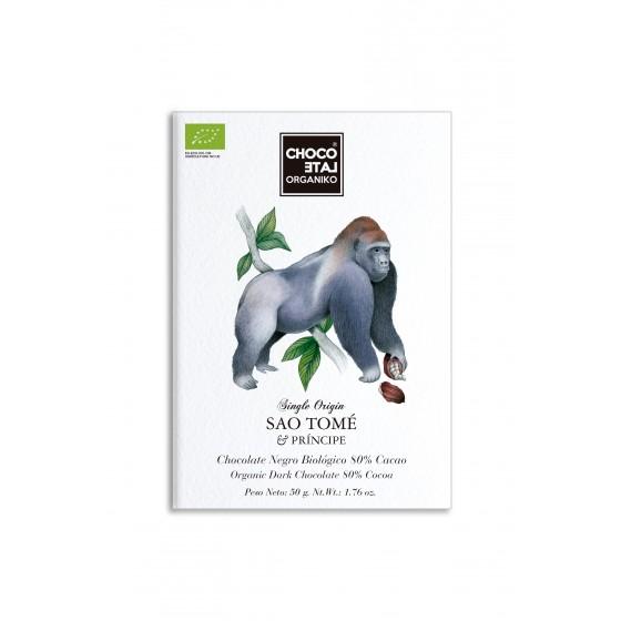 """""""Origen Sao Tomé""""  Chocolate negro 80% cacao BIO 50 g"""