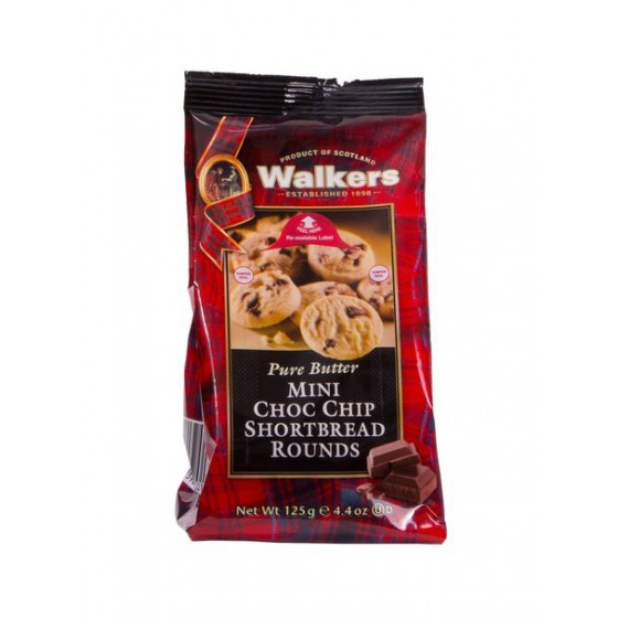 Mini Shortbread rounds con chips de chocolate 125 g