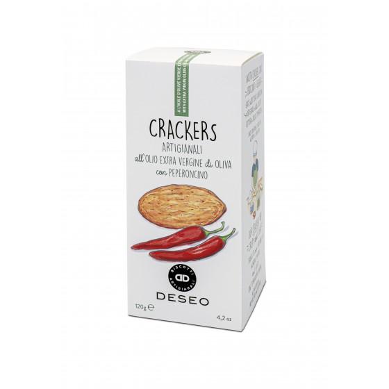 Crackers con aceite de oliva virgen extra y Chili 120 g