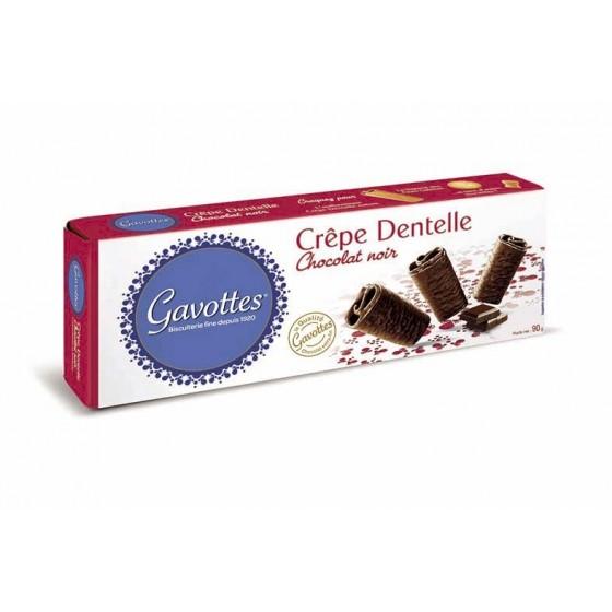 Crêpe Dentelle recubiertos de chocolate negro 90 g