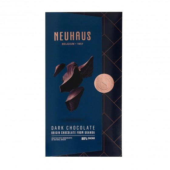 Tableta de chocolate negro (80% cacao) de Uganda 100 g