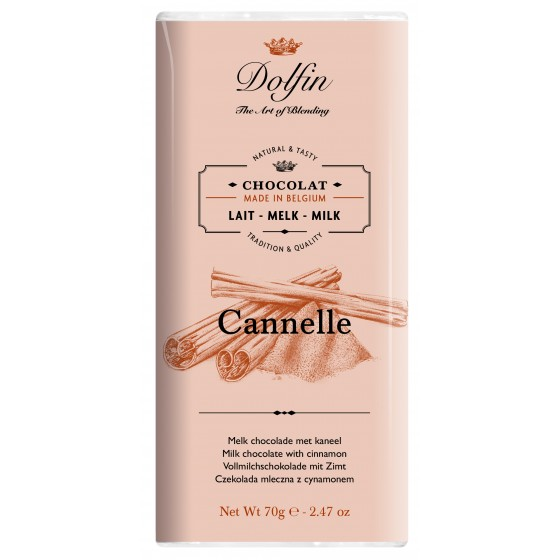 Chocolate con leche a la canela de Ceylan 70 g