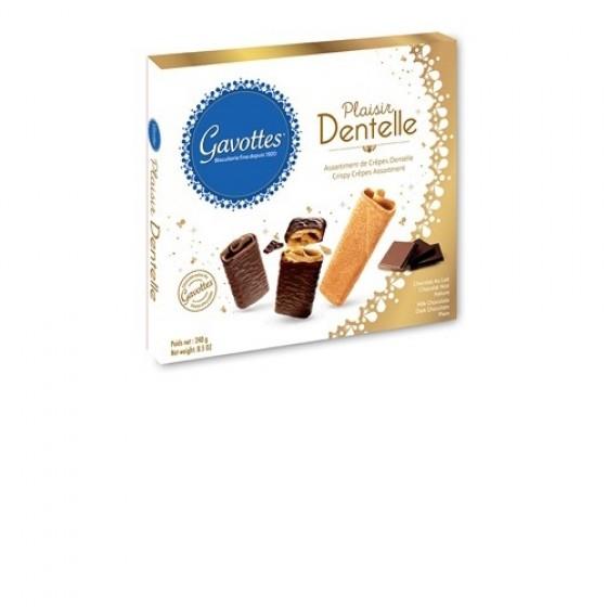 Surtido de Crêpes Dentelle de chocolate con leche y chocolate negro 240 g