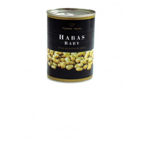 Habas Baby fritas en aceite oliva 390 g