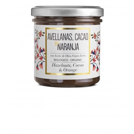 Crema de cacao, avellanas y naranja BIO 150 g