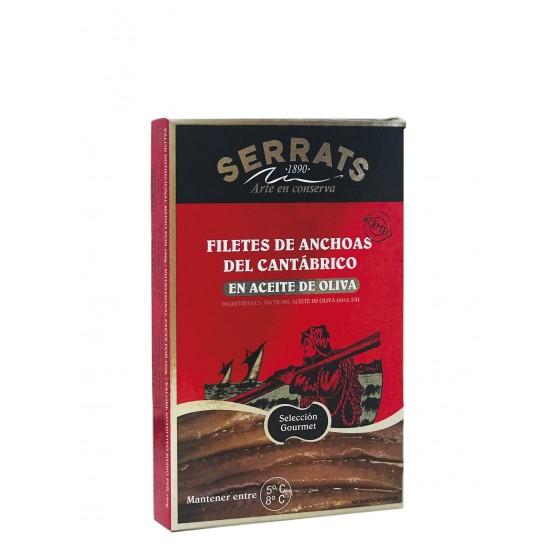 Filetes de anchoas en aceite de oliva 120 g