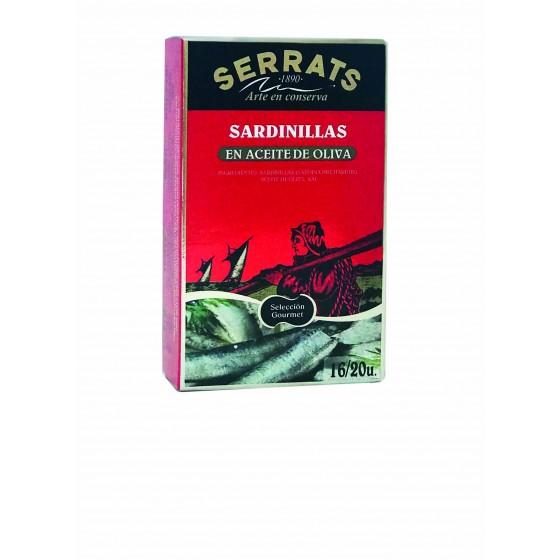 Sardinas en aceite de oliva 118 g   ~16/20 pza