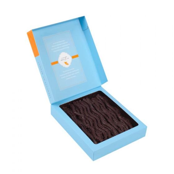 Finos y delicados sarmientos de chocolate negro a la naranja 125 g