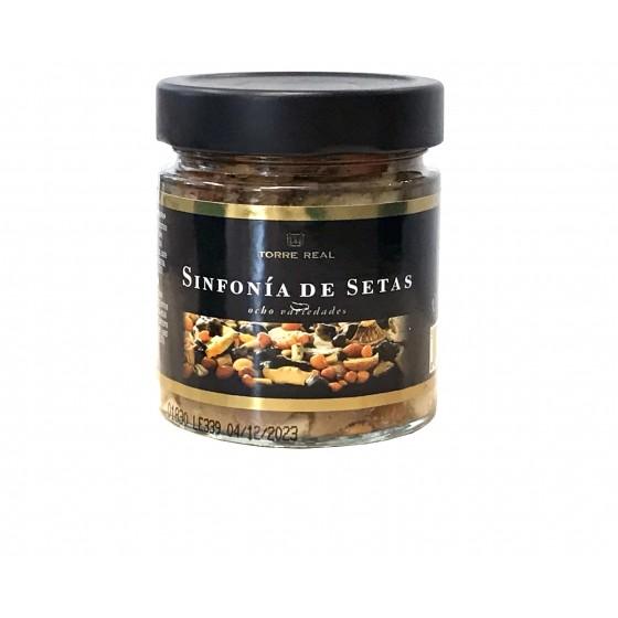 Sinfonía de 8 variedades de setas en aceite de girasol 200  g