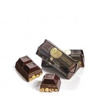 Mini bloc de chocolate negro 56% cacao y avellanas enteras  150 g