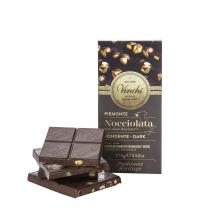 Tableta de chocolate negro 56% con avellanas enteras 100 g