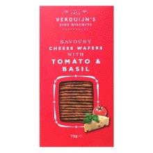 Wafers con queso, tomate y albahaca 85 g