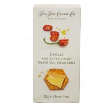 Crackers de aceite de oliva virgen extra y chilli rojo picante 125 g