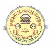 Sardinillas Millésimées en aceite de oliva 22/24 pza. 120 g
