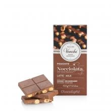 Tableta de chocolate con leche (33% cacao) sin azúcar añadido 100 g