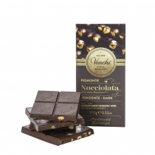 Tableta de chocolate negro 56% con avellanas enteras 100 g