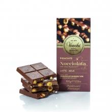 Tableta de chocolate con leche (32% cacao) con avellanas enteras (30%) 100 g