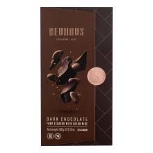 Tableta de chocolate negro (75% cacao) con pepitas de chocolate 100 g