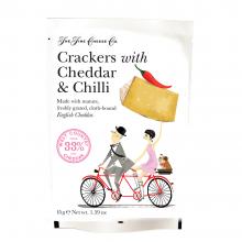 Crackers con queso Cheddar y chilli 45 g