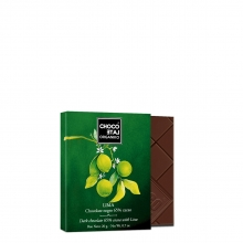 Chocolate negro 65 % cacao, con lima BIO 20 g