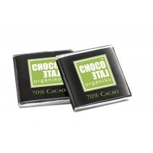 Napolitanas de chocolate negro 70% cacao BIO  5 g