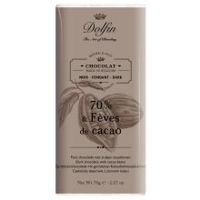 Chocolate negro 70% con trozos de cacao 70 g
