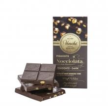 Tableta de chocolate extra amargo (54% cacao) con avellanas enteras IGP Piamonte 100 g