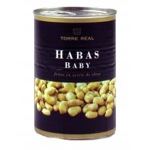 Habas Baby fritas en aceite oliva 420 gr