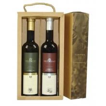Pack de aceite Arbequina y vinagre Cabernet Sauvignon | 2 btll de 50 cl