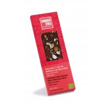 Chocolate con leche 36% cacao, avellana y piel de naranja de Mallorca BIO 50 g