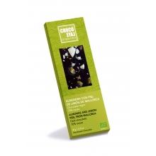 Chocolate negro 70% cacao, almendra con piel de limón de Mallorca BIO 50 g