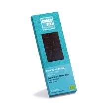 Chocolate negro 70% cacao, Flor de sal de Ibiza BIO 50 g
